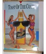 1988 Miller Genuine Draft MGD Bikini girls Blondes Beer Poster Spring Br... - $15.83