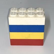 Lego Vtg 1960s Jumbo Beginners Bricks 4x2x1 Complete Color Set Samsonite - $33.61