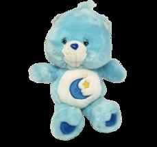 "12"" 2002 BEDTIME CARE BEARS BLUE BEAR MOON & STAR STUFFED ANIMAL PLUSH TOY - $36.47"