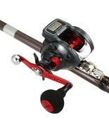 Alpha300 Bait Casting Fishing Reel w/ Digital Line Display with Reel Sto... - $57.50