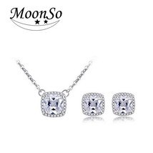 Moonso 925 Sterling Silver Jewelry for women wedding Austrian Crystal St... - €13,78 EUR