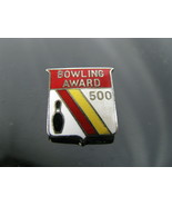 Vintage 500 Series Bowling Award Lapel Hat Pin - $5.89