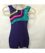 Danskin 7/8 M Romper Freestyle One Piece Pink Purple Dance Athletic Tumbler - $11.74