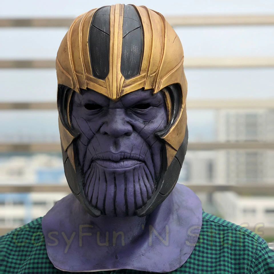 New Endgame Thanos Mask Infinity War Avengers EndGame Costume Mask Handmade image 4