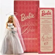 Barbie Millennium Bride Porcelain Ornament 2000 Avon Mattel - $19.79