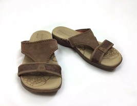 Merrell Sweetpea Dark Earth Slide Sandals Womens Size 7 38 Brown QForm C... - $22.43
