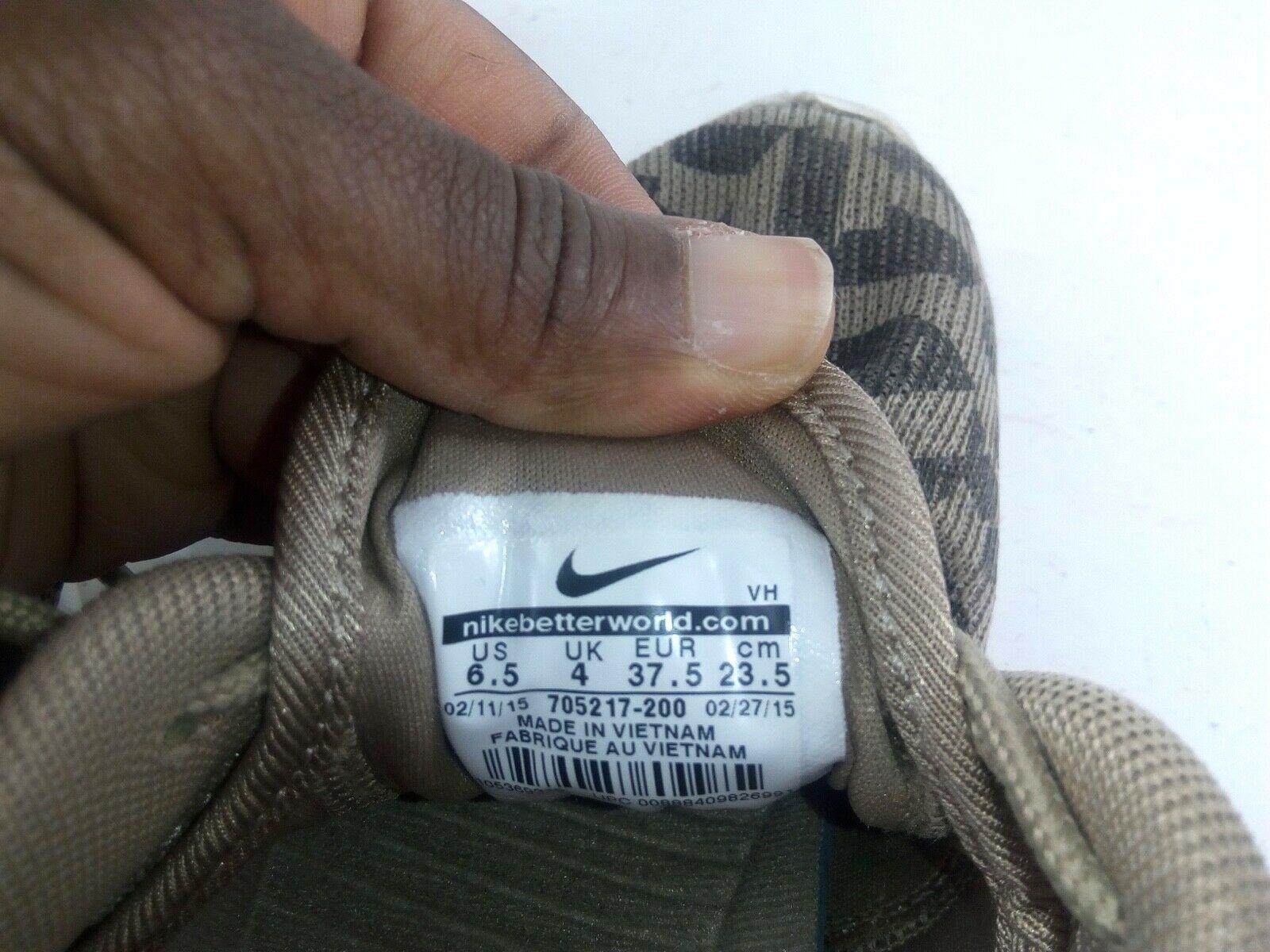 Nike Women's Sneakers 6.5 Roshe Run One Jacquard Beige Desert Camo 705217 200 image 9