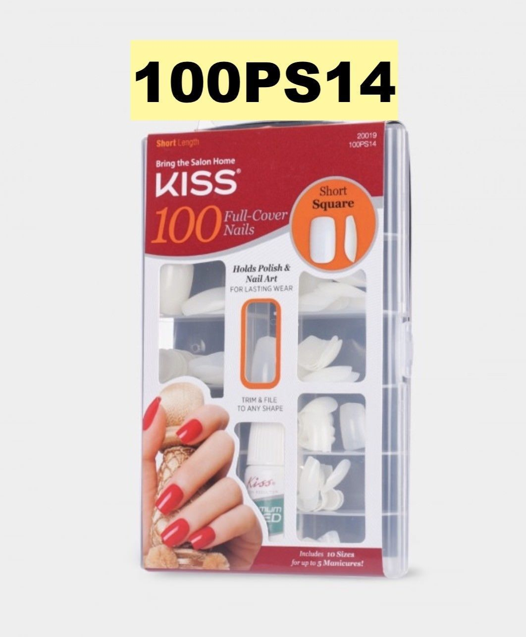 Kiss 100 Full Cover Nails Short Square and 50 similar items