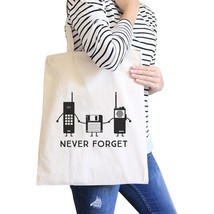 Never Forget Natural Canvas Bags - $19.89 CAD