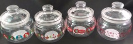 """CHRISTMAS HOLIDAY PLASTIC CANDY JARS Clear Plastic 4.5'x4.8"""" Select: Design - $3.99"""
