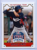 Royce Lewis 2015 Panini Équipe U.S.A.Baseball Carte Rookie #85 ! Minnesota Twins - $2.93