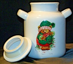 Christmas Double Handle Ceramic Cookie Jar w Lid Item # 252 1P1 AA-191963  Colle image 2