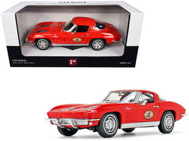 1963 Chevrolet Corvette Red The Busted Knuckle Garage 1/24 Diecast Model Car by  - $50.39
