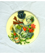 Shades of the 1950's  Happy Couple Celebrating the Christmas Season - $9.00
