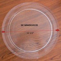 "12 1/2"" GE WB49X10139 MICROWAVE GLASS TURNTABLE PLATE / TRAY GENTLY USED! - $37.61"