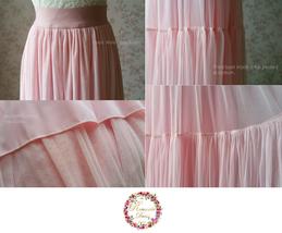 Light Blue Wedding Tulle Skirt High Waisted Full Long Tulle Skirt image 6