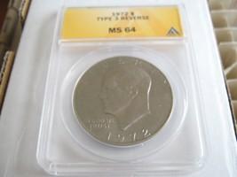 1972 Eisenhower Dollar , Type 3 Reverse , ANACS , Lot of 5 - $95.00