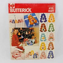 Care Bears Ornaments Butterick 6725 Craft Pattern 5.5 Inch Tall 1984 - $13.99