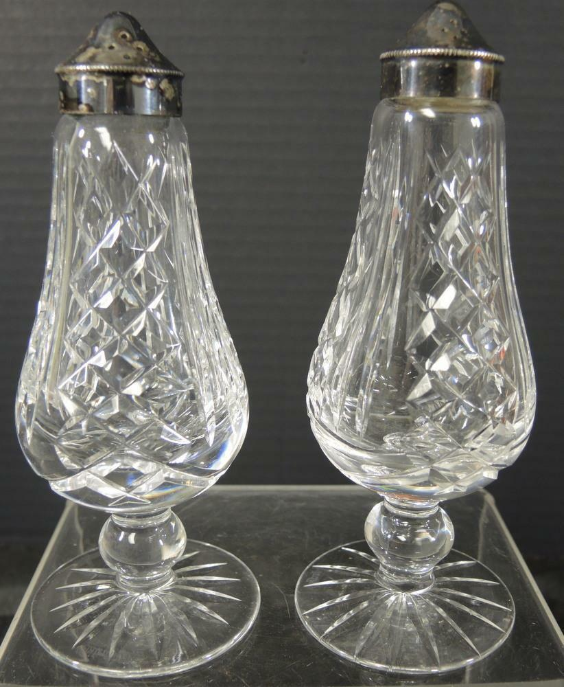 Primary image for Vintage Waterford Irish Crystal Footed Salt & Pepper Set