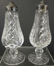 Vintage Waterford Irish Crystal Footed Salt & Pepper Set - $56.99
