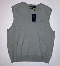 POLO RALPH LAUREN Men's Sweater Vest Stone Gray NWT S - $39.59