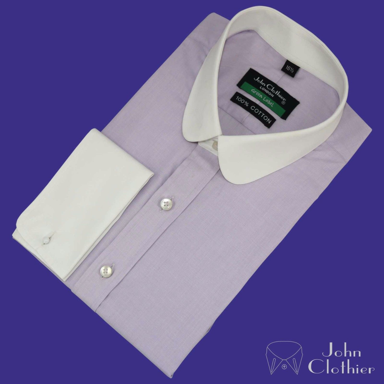 New Penny collar Banker shirt for Men Lilac Shamre Gents Office Round Club Gift Z0a6Awyi