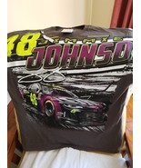 Jimmie Johnson #48 ally Chevy on a Extra Large (XL) Gray tee shirt - $23.00