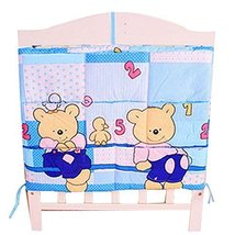 Lovely Bear Baby Bedside Bag Multilayer Pouch Storage Bag Diaper Bag