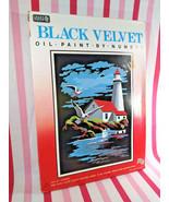 Groovy Vintage New Old Stock Craft House Black Velvet Oil PBN Kit Light House - $28.00