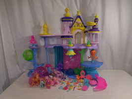 My Little Pony The Movie Canterlot & Seaquestria Castle + Tower + Ponies... - $35.02