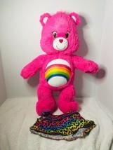 """Build a Bear Care Bears Pink Cheer Bear 18"""" Plush Rainbow Stuffed Animal - $9.99"""