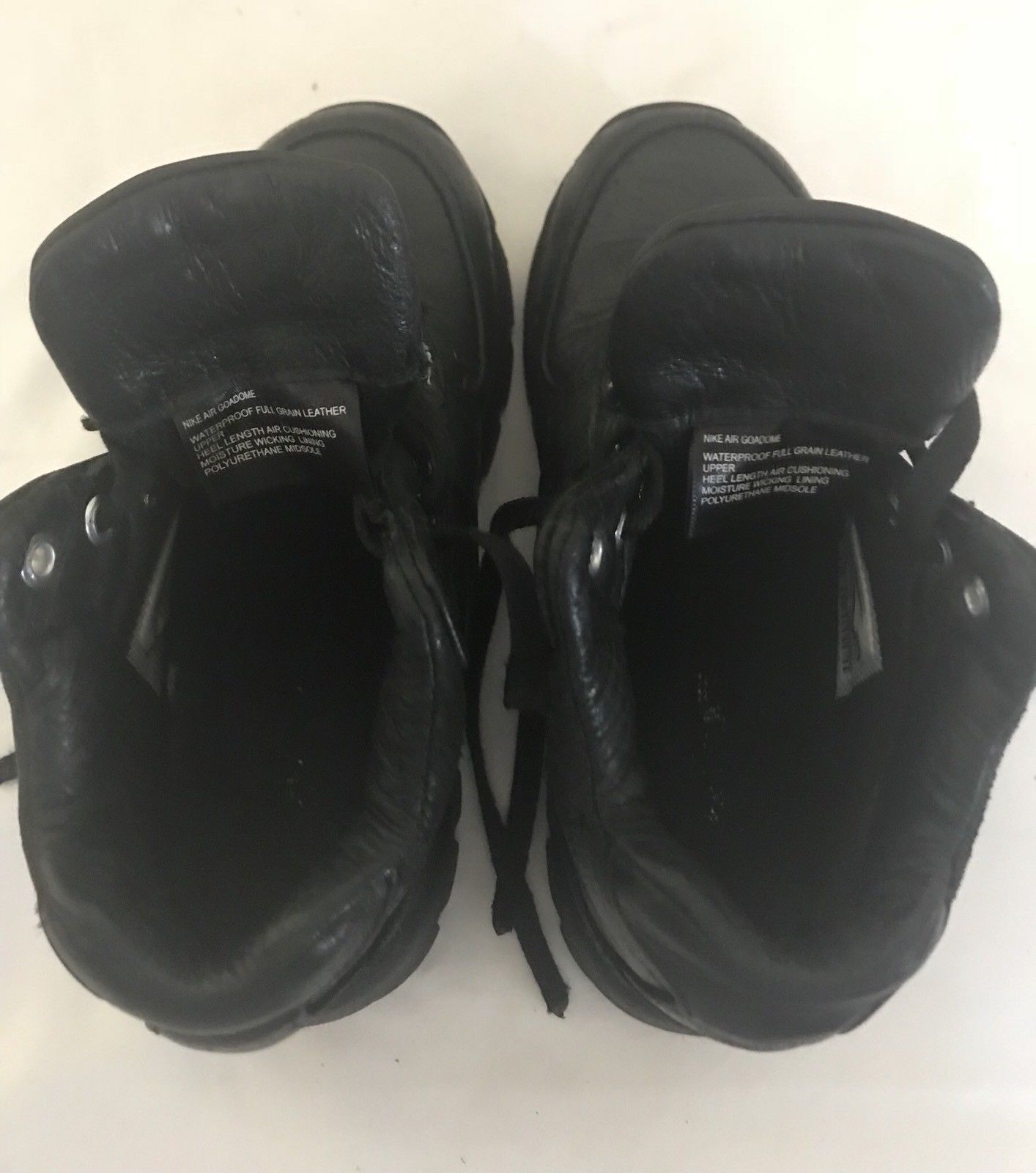 f1ae4e52cb Nike Air Max Goadome Toddlers ACG Leather Snow Books SIZE 10C Black 311569- 001