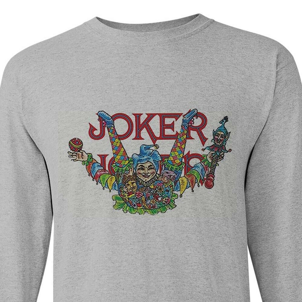 Joker cigarette rolling papers long sleeve t-shirt zig zag JOB marijuana tees