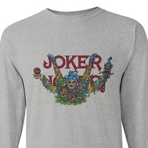 Joker cigarette rolling papers long sleeve t-shirt zig zag JOB marijuana tees image 1