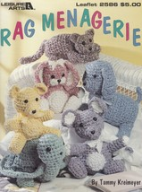 Rag Menagerie, Leisure Arts Crochet Fabric Strips Animals Pattern Bookle... - $18.95