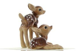 Hagen Renaker Miniature Deer Baby Fawn Standing & Lying Ceramic Figurine Set image 8