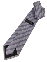 "New Kenneth Cole New York Silk Tie Purple Stripes Men's Neck Tie Designer 59"" - $13.95"