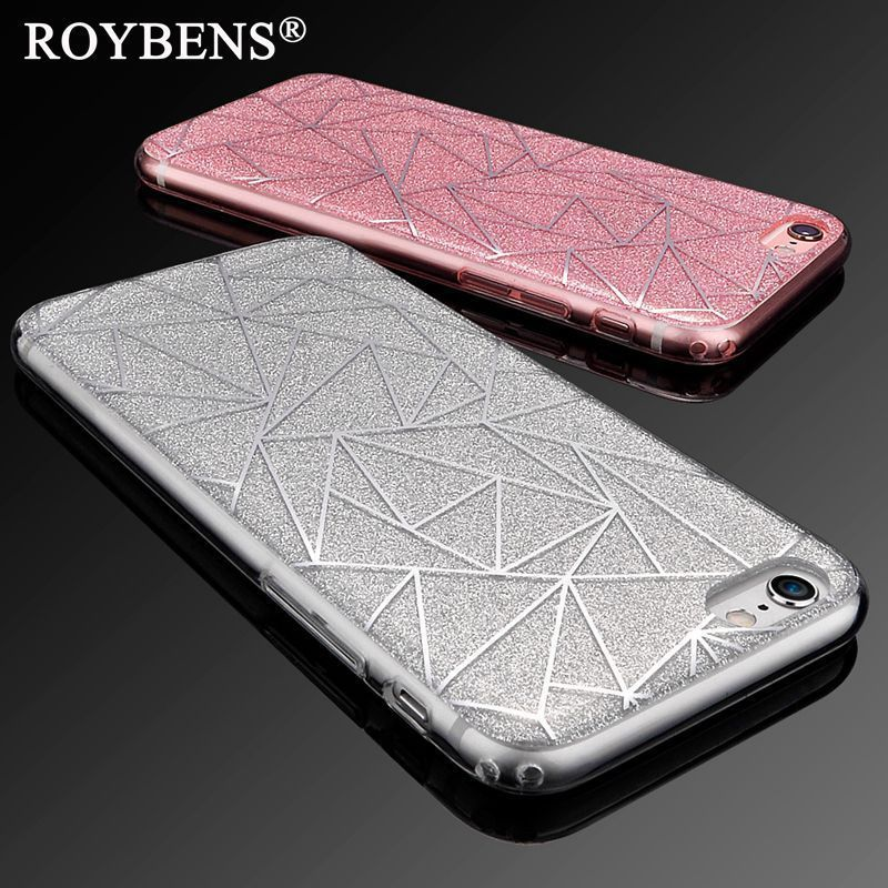 Roybens® For IPhone 5S Case Luxury Bling Sandstone Glitter Soft Case For IPhone