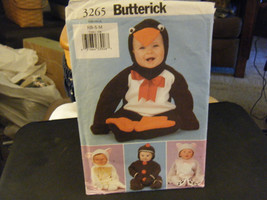 Butterick 3265 Baby Penguin, Lamb, Cat Costume Pattern - Size NB-M 12 to... - $11.53