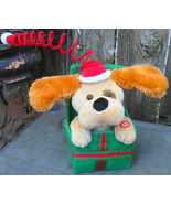 Dog in Christmas Gift Package Automated Music Movement - $18.00