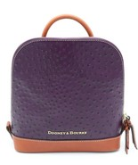 NWT Dooney & Bourke Ostrich Purple Leather Pod Backpack Bag New  $268 - $168.00