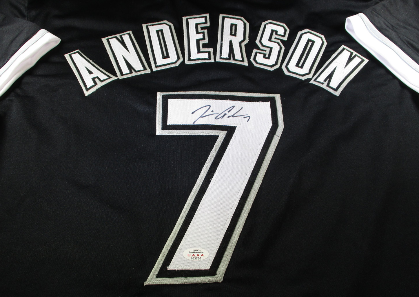 TIM ANDERSON / AUTOGRAPHED CHICAGO WHITE SOX CUSTOM BASEBALL JERSEY / COA