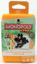 Monopoly Junior Game Edition Shuffle Cards Card Travel Toy - $9.49
