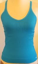 NIKE DRI-FIT RN 56323 – Women's Aqua Blue Racerback Athletic Workout Tank - S/M - $14.97
