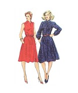 Misses Shirtdress Simplicity 5242 Sewing Pattern Vintage 1981 Size 12 c2772 - $7.99