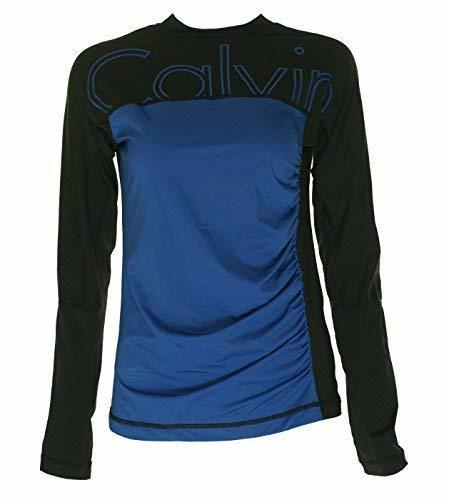 Calvin Klein Women's Long Sleeve Athletic Shirt Blue/Black Medium