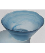 Mikasa Swirl Design 4-Inch In Height Glass Serving Bowl in A Smokey Blue... - $21.99