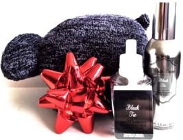 Bath & Body Works Black Tie Room Perfume, Dog Sponge Bow Magnet Set - $24.88
