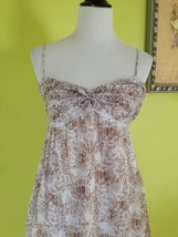 NWT!! ANN TAYLOR brown White Floral Spaghetti Strap Empire Waist Dress S... - $19.99