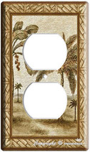 Hawaiian Beach Palm Trees Duplex Electrical Outlet Wall Plate Cover Room Decor - $8.99